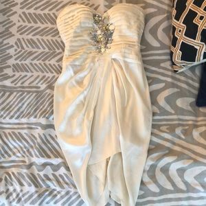 Bebe embellished silk dress